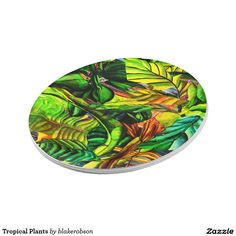 Choose from a great selection of Tropical plates ranging from dinnerware to license plates for you car. Browse our pre-existing designs or create your own on Zazzle today! Tiki Hut, Tropical Plants, Paper Plates, Enamel, Tableware, Painting, Products, Vitreous Enamel, Dinnerware