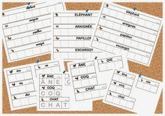 Maternelle et Direction de yann: Série de cartes style Nathan sur les animaux