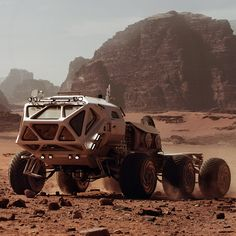 Rover 2 was the rover that Mark Watney used. The Martian, Concept Ships, Concept Cars, Mark Watney, Science Fiction, Spaceship Design, Spaceship Concept, Vanz, Mars