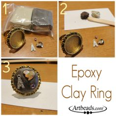 Quick epoxy clay ring!