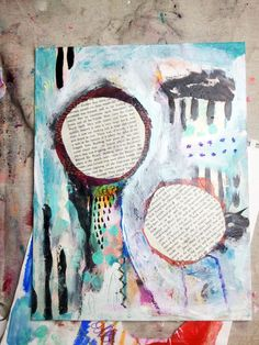 Whimsical Owls and Other Mixed Media Art From the Heart by Juliette Crane: NEW Mixed Media Painting: Belief In Magic