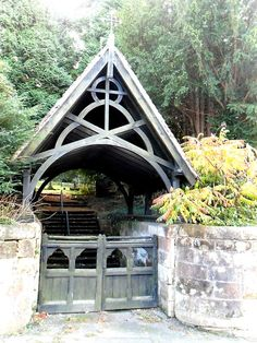 vwcampervan-aldridge: Lych Gate at St Peter's Church, Alton, Derbyshire, England. Timber Gates, Wooden Gates, Old Gates, St Peter's Church, Landscape Fabric, Listed Building, Rustic Cottage, Entrance Gates, Gate Design