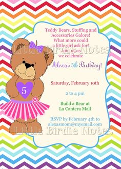 Printable Build A Bear Birthday Party by ScriptureWallArt on Etsy