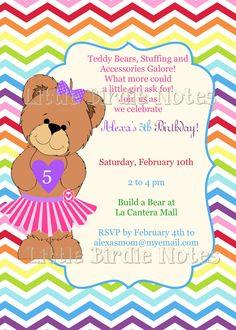 Printable Invitation-Teddy Bear Party-Build A Bear by CasburyLane