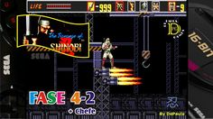 The Revenge of Shinobi (Mega Drive) Gameplay Fase 4-2 e Chefe