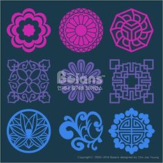 Korean traditional flower and plant Pattern are Pattern Designs Chinese Patterns, Indian Patterns, Textile Patterns, Stencil Art, Stencil Designs, Stencils, Pattern Designs, Korean Traditional, Traditional Art
