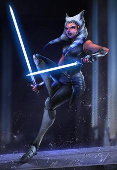 Ahsoka - Clone Wars by Totemos on DeviantArt Star Wars Jedi, Star Wars Rebels, Star Trek, Star Wars Fan Art, Star Wars Clones, Images Star Wars, Star Wars Pictures, Star Wars Poster, Star Citizen