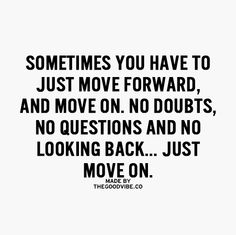 Just move on...