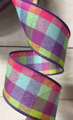 Excited to share this item from my #etsy shop: Purple Pink Turquoise Lime Yellow wired ribbon, Spring check wired ribbon, spring plaid wired ribbon, plaid ribbon, ribbon by the yard #pink #canvas #waysidewhimsy #wreathsbyrobin #purple Green Dot, Pink And Green, Yellow, Purple, Wreath Supplies, Craft Supplies, Bicycle Rims, Pink Turquoise, Wired Ribbon