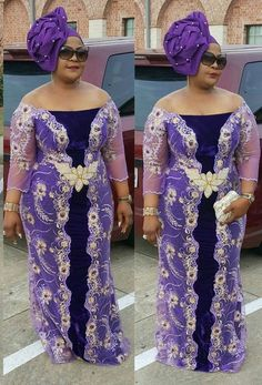 Elegant French Lace Aso Ebi Styles For Wedding Guests 2019 - Dabonke : Nigeria Latest Gist and Fashion 2019 Aso Ebi Lace Styles, African Lace Styles, Lace Dress Styles, Ankara Styles, Nigerian Lace Dress, Nigerian Dress Styles, African Wear Dresses, African Attire, African Men