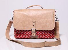 Shweshwe Cloth and Leather Laptop Bag