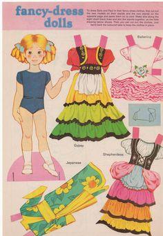 2 x Vintage Uncut Paper Dolls Sally and Paul by SadieScissorhand