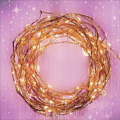 Fairy Star Lights Extra Long 39ft Warm White LED Copper Wire Indoor Outdoor + FREE Battery Power Adapter BONUS Included with a DC 6V Wall Adapter