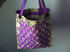 Woven duct tape purse