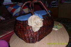 Pletenie z papiera: RETRO košík na huby