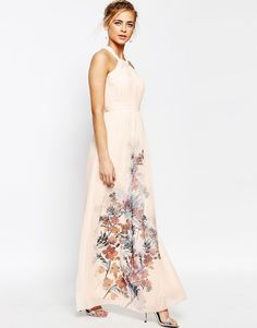 Image 4 ofLittle Mistress High Neck Maxi Dress with Open Back