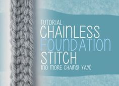 CFM - Chainless Foundation Method for Dble, Half Dble or Single crochet...no more starting chain ༺✿Teresa Restegui http://www.pinterest.com/teretegui/✿༻