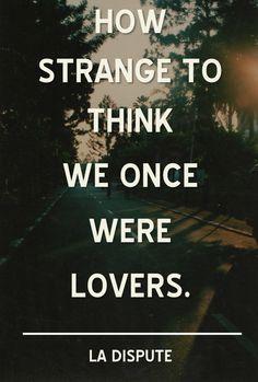 So strange.
