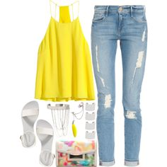725. by adc421 on Polyvore featuring moda, H&M, Frame Denim, Old Navy, Kate Spade, Forever 21, Anni Jürgenson and Maison Margiela