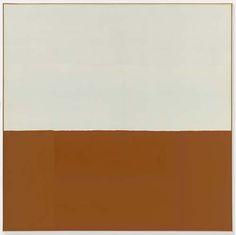 """James Bishop """"Untitled (Bank)"""" 1974 Oil on canvas"""