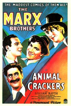 [196] Animal Crackers (1930) 15/02/15 (3/5) Humor de l'absurd.