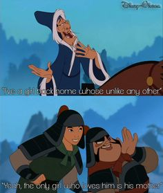 """Mulan Song: The Girl Worth Fighting For. """"That part made me laugh"""""""