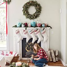 Placing garland on your mantel is a great backdrop for more decorations: http://www.bhg.com/christmas/garlands/holiday-garland-ideas/?socsrc=bhgpin120813backdropgarland&page=4