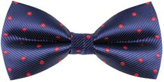 Men's Premium Red Dots Woven Texture Bow Ties