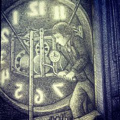 Reading The Invention of Hugo Cabret by Brian Selznick