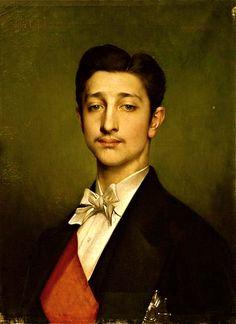 Eugene-Louis-Napoleon Bonaparte, The Prince Imperial  (1856-79)Portrait by Jules Joseph Lefebvre 1874