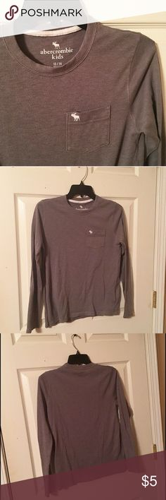 Boys Gray Abercrombie Kids Top Boys Abercrombie kids long sleeve too. Gray color with white Abercrombie symbol and accents. Used but in great condition. Size 13/14. abercrombie kids Shirts & Tops Tees - Long Sleeve