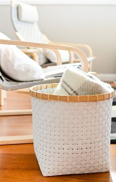Love this white basket... (Scandi Home: Tuokiokuvia kotoa - Snapshots from Home)