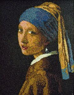 Girl With A Pearl Earring, a jelly bean portrait