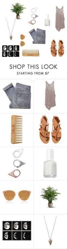 """""""Weekend Casual"""" by deedott ❤ liked on Polyvore featuring Marc by Marc Jacobs, Duffy, The Body Shop, H&M, Monki, Essie, Tory Burch, Pamela Love, women's clothing and women"""