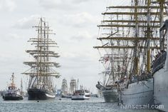 On the river Warnow @ Hanse Sail Rostock.