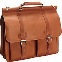 Keep your laptop computer and everyday business essentials neatly together in the Kenneth Cole Reaction Show Business Columbian Leather Flapover Computer Case. Buy now!