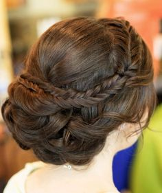 Wedding updo hairstyle idea via Hair and Makeup by Steph - Deer Pearl Flowers / http://www.deerpearlflowers.com/wedding-hairstyle-inspiration/wedding-updo-hairstyle-idea-via-hair-and-makeup-by-steph/