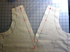 Frabjous Couture: Directional sewing to eliminate distortion