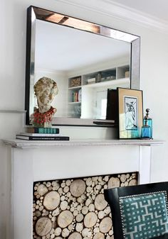 Adding a large mirror to your living room will make it feel instantly larger!