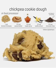 Chocolate Chip Protein Cookies (Vegan, GF) – Midnight Munchies & More! Chocolate Chip Protein Cookies (Vegan, GF) – Midnight Munchies & More! Healthy Vegan Desserts, Vegan Dessert Recipes, Vegan Sweets, Vegan Foods, Whole Food Recipes, Cooking Recipes, Paleo, Vegan Chickpea Recipes, Healthy Puddings