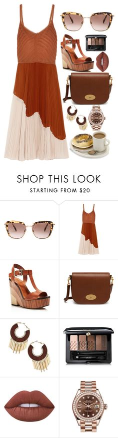 """Begin each day happy"" by pulseofthematter ❤ liked on Polyvore featuring Miu Miu, Jason Wu, Vince Camuto, Mulberry, Thalia Sodi, Guerlain, Lime Crime and Rolex"