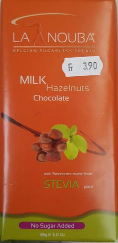 MILK Hazelnuts Chocolate LA NOUBA low carb Milchschokolade ohne Kristallzucker mit Maltit und Stevia gesüsst - NEU im Sortiment#lowcarb #abnehmen #fitness #active12 #Milchschokolade #LaNouba