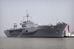 The USS Blue Ridge, the command vessel of the U.S. Navy's Seventh Fleet, has docked in Sha...