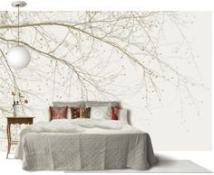 Black Beech - Beige - Wall Mural & Photo Wallpaper - Photowall