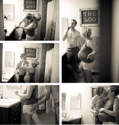 Interesting idea for maternity photos.  I kinda like this... photography by Daylene Wilson.
