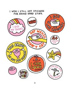 I wish I still got stickers for doing hard stuff...