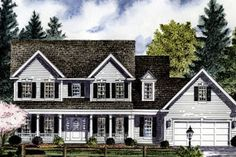 Exterior - Front Elevation Plan #316-124 - Houseplans.com