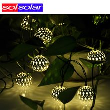 Warm white 10 Balls/Set Wholesale Moroccan String LED Fairy Lights Christmas…