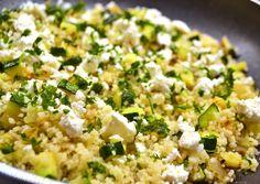 Cukkinis fetás kuszkusz recept foto Fast Healthy Meals, Healthy Snacks, Healthy Recipes, Vegetarian Recepies, Vegetable Recipes, Light Recipes, Clean Recipes, Clean Eating, Vegas