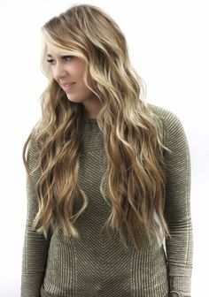 2 rows of custom hair color and hair extensions with the NBR method.  Beach waves, bronde blonde, blonde hair, hair extensions, hand tied extensions, Natural beaded rows, long hair styles  Instagram: @hairmechanic.refinery208 Colored Hair Extensions, Beach Waves, Instagram Fashion, Hair Color, Long Hair Styles, Natural, Beauty, Haircolor, Long Hair Hairdos